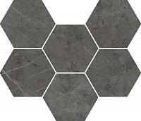 Мозаика Italon Charme Evo Antracite Mosaico Hexagon 25x29