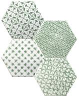 Mosaic Verde Hexagon 15x15
