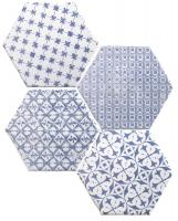 Mosaic Azul Hexagon 15x15